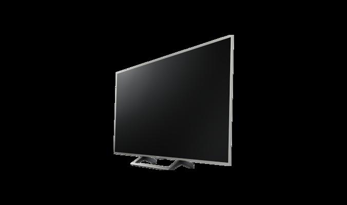 kd49xe7077saep 123 cm 49 motionflow xr 400 hz silberner rahmen standfu mit silberner u. Black Bedroom Furniture Sets. Home Design Ideas