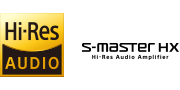 Hi=Resolution Audio und S-Master HX™ Logos